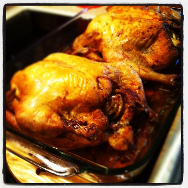 Roast Sticky Chicken, Rotisserie Style